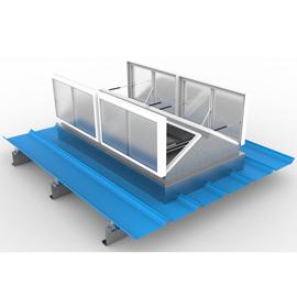 LN-三角型排烟天窗(FRP采光板)